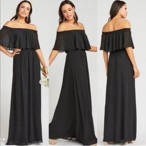 NWT Show Me Your Mumu Black Chiffon Maxi Dress